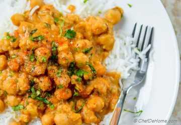 Easy Chickpea Curry with Basmati Rice