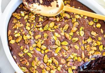 Salted Pistachios Mexican Chocolate Pudding Cake