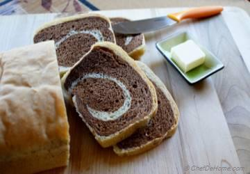 White Swirl Chocolate Breakfast Bread