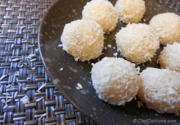 Coconut Cardamom Truffles