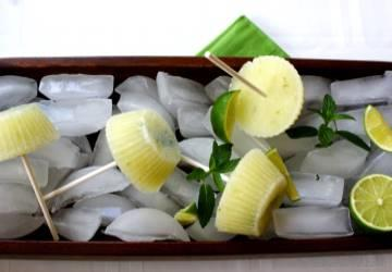 Cucumber Lime Cocktail Ice Pops