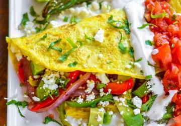 Chicken Fajita Omelette