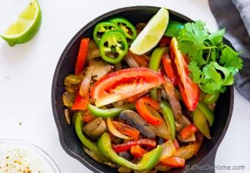 Healthy Vegetarian Fajitas
