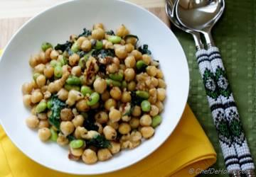 Chickpea-Kale Salad with Tahini-Lemon Dressing