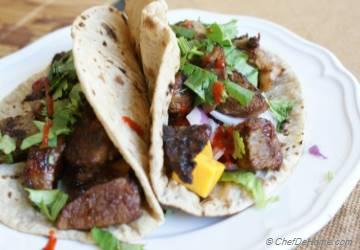 Korean BBQ Lamb Tacos