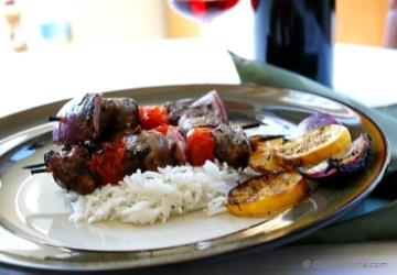 Grilled Lemon Herbs Lamb Skewers