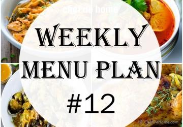 Weekly Meal Menu Plan - 12