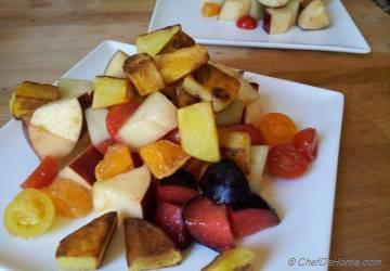 Mix Fruit Salad with Roasted Potato Fries