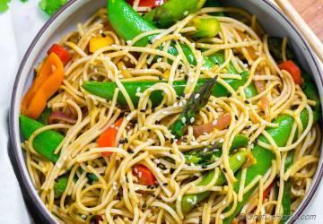 Spicy Soba Noodles Vegetable Stir Fry