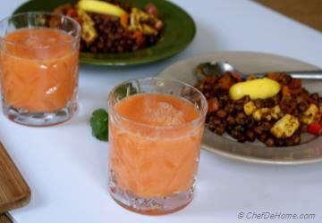 Carrots and Orange Breakfast Smoothie