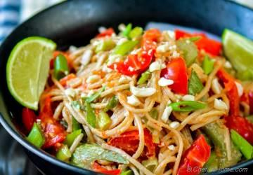 Noodles with Chili-Lime Peanut Sauce