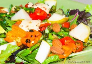 Grilled Sweet Peppers and Pear Salad
