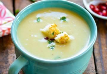 Creamy Potato Leek Soup in Pressure Cooker