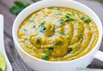 Split Pea Soup in Slow Cooker