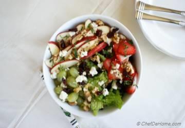 Healthy Waldorf Salad with Lite Dressing