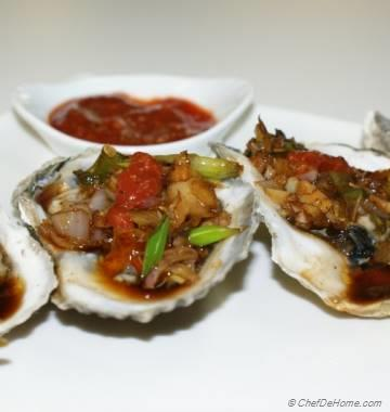 Homemade Cocktail Sauce with Succulent Baked Oysters