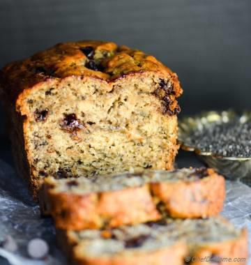 Moist Chia Chocolate Chip Banana Bread