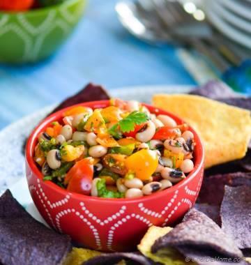 Roasted Poblano and Black-Eyed Peas Salsa