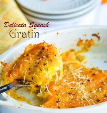 Herbed Delicata Squash Gratin - Thanksgiving Dinner Countdown