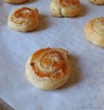 Mango Chutney and Cream Cheese Pin Wheels