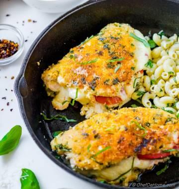 Parmesan Crusted Chicken Caprese