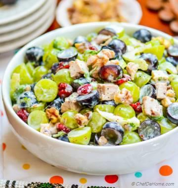 Chicken Waldorf Salad with Grapes