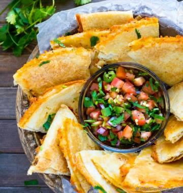 Cheesy Baked Tortilla Chips