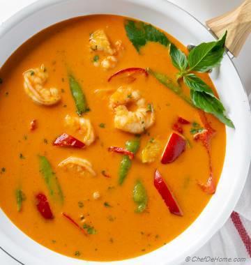 Coconut Curry Shrimp (Creamy, Thai Red Curry)
