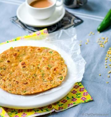 Leftover Lentils Breakfast Flat Bread - Indian Daal Parantha
