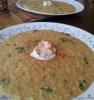 Cracked Wheat and Lentils Porridge