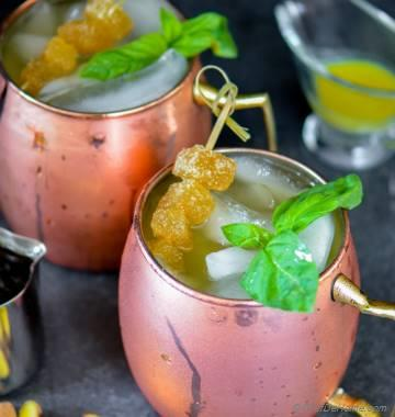 Cranberry Moscow Mule with Homemade Ginger Ale
