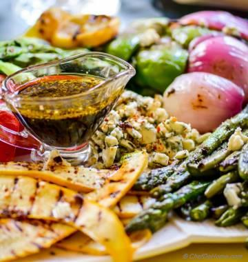 Grilled Vegetables Salad with Balsamic Dressing