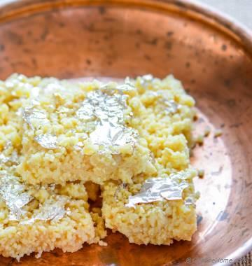 Indian Kalakand Burfi with Condensed Milk
