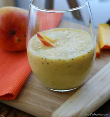 Mango Chia Seeds Milk Shake