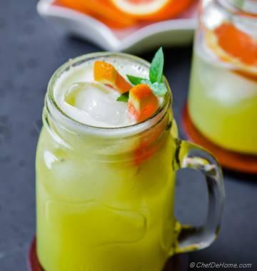 Honeydew Melon and Orange Juice