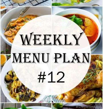 Weekly Meal Menu Plan - 12
