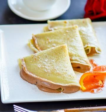 Easy Nutella Mousse Crepes
