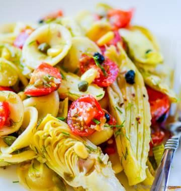 Roasted Fennel and Artichoke Pasta Salad Oven Roasted Asparagus and ...