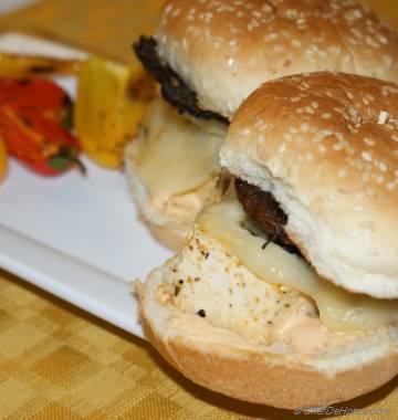 Juicy and Hearty Portobello Mushroom and Tofu Burgers