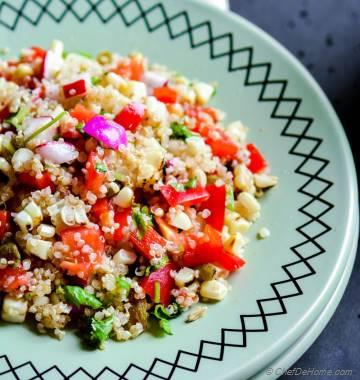 Quinoa And Roasted Corn Salad