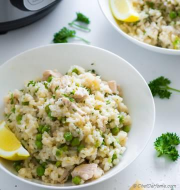 Chicken Risotto Instant Pot