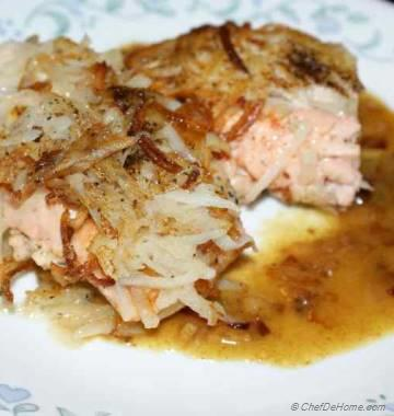 Salmon With Potato Hash