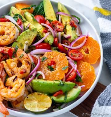Grilled Shrimp Avocado Salad