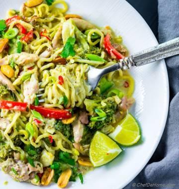Thai Green Curry Chicken Noodles