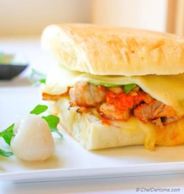 The MasalaWich - Chicken Tikka Masala Grilled Cheese Sandwich
