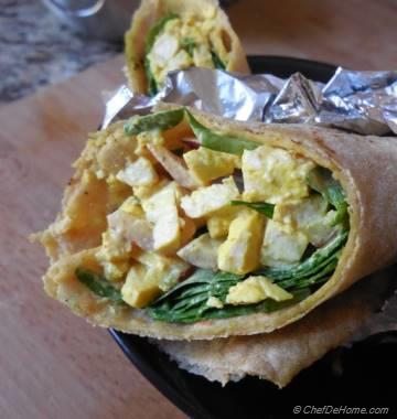 Vegan Tofu Egg Salad Wrap