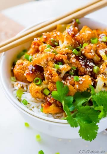 Skinny Firecracker Cauliflower Rice Bowl