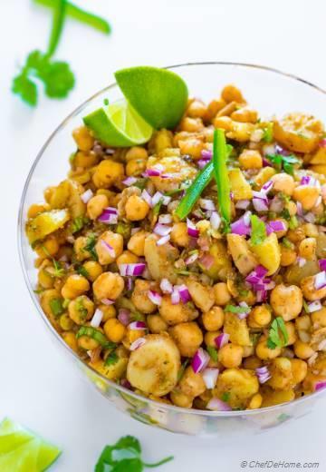 Potato Chickpea Salad - Aloo Chana Chaat