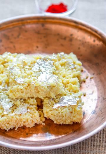Indian Kalakand Burfi with Condensed Milk