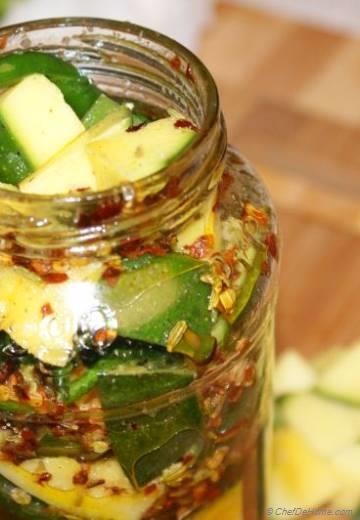 Raw Mango and Serrano Pepper Pickle